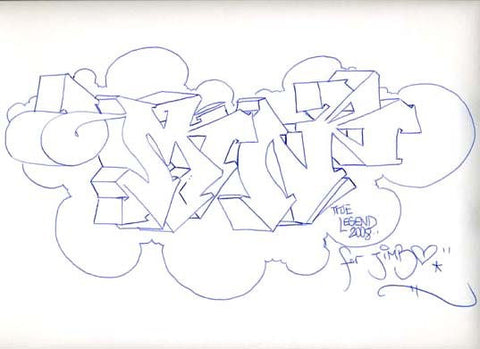 "MIN ONE -""Untitled #5"" BlackBook Drawing"