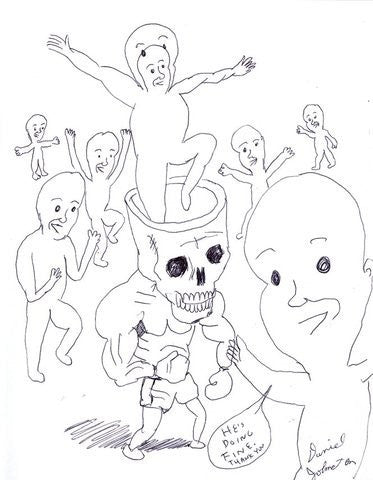 "DANIEL JOHNSTON- ""Mental Hospital drawing #5"""