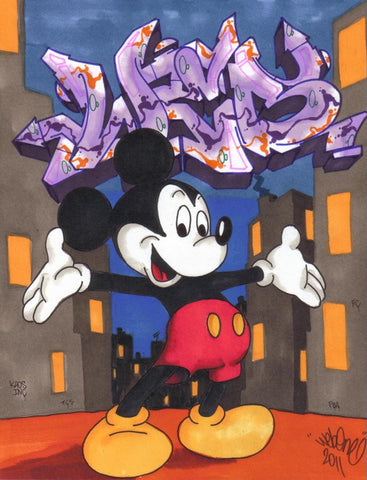 "WEB ONE - TC5 - ""Mickey""  Blackbook Drawing"