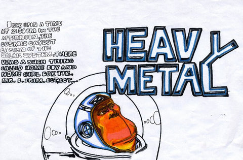 "NOC 167 - ""Heavy Metal"" Black Book Drawing"