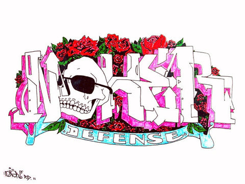 "NOXER - ""Defense 2"" Black Book Drawing"