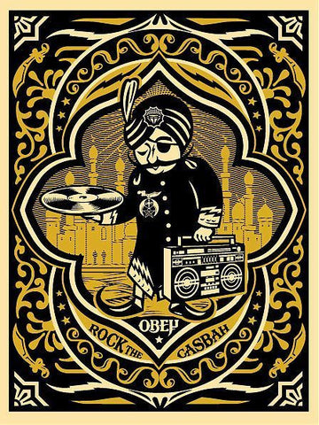 "SHEPARD FAIREY - ""Rock The Casbah"" GOLD"