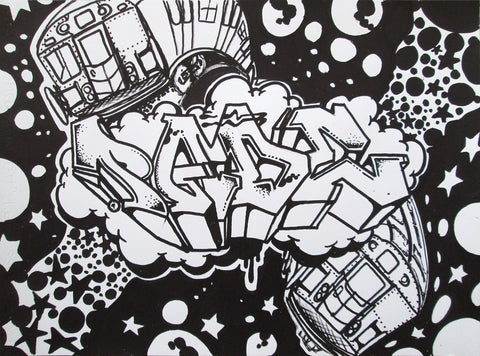 "PADE "" Untitled "" Black Book Drawing"
