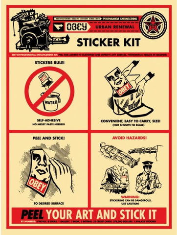 "SHEPARD FAIREY - ""Sticker Kit Print"""