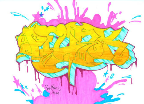 "SMITH - ""Pfunk"" Black Book Drawing"