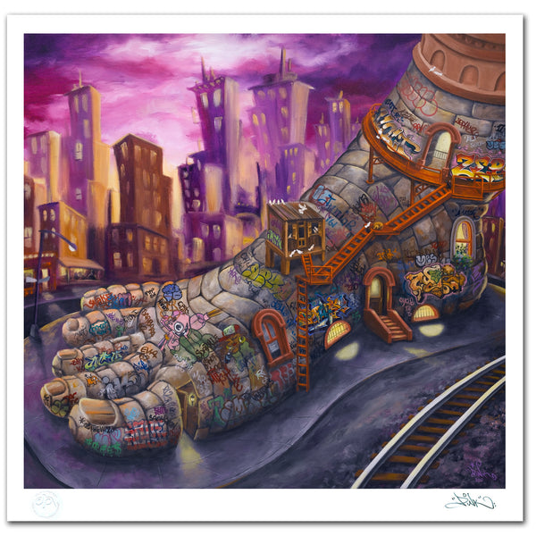 "LADY PINK- ""Five Pointz"" Print"