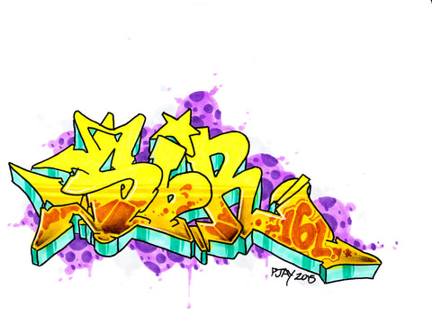 "PJAY ONE - ""SIR 161"" Black Book Drawing"