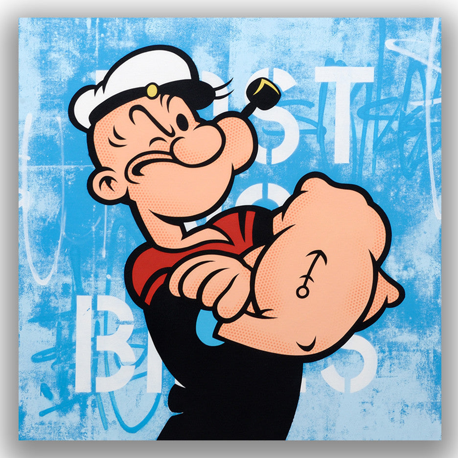 "GRAFFITI ARTIST SEEN  -  ""Popeye""  Aerosol on  Canvas"