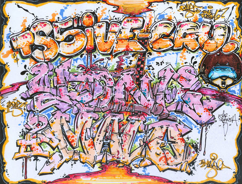 "PRIZ ONE - ""2-DONE, 2-MALO TS5IVE CREW"" Black Book Drawing"