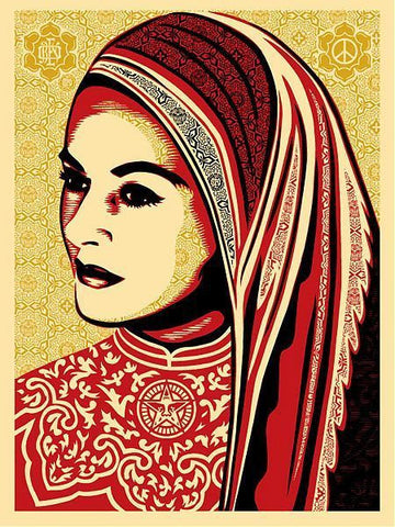 Shepard Fairey -Peace Woman