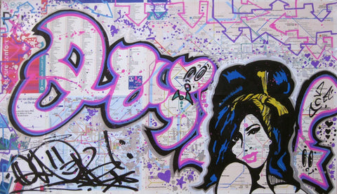 "QUIK - ""Amy"" Paris Transit Map"
