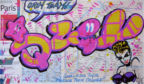 "QUIK - ""Grim Team"" Paris Transit Map"