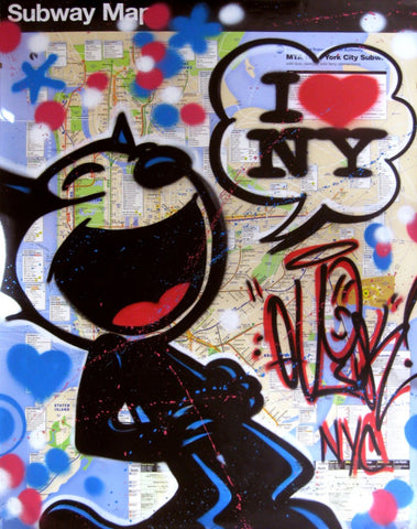 "QUIK - ""Felix- I Luv NY""  Large Scale Map"
