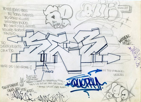 "SE3, QUIK  ""Untitled 1983""  Black Book Drawing"