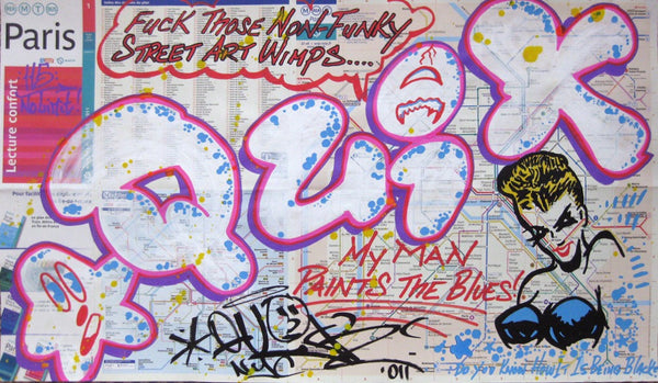 "QUIK - ""Art Wimps"" Paris Transit Map"