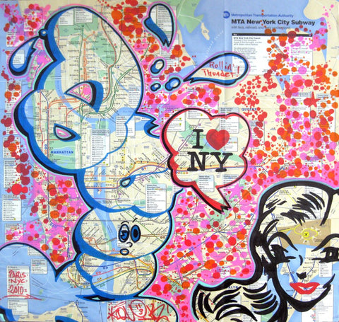 "Quik - ""I Luv NY"" Map"