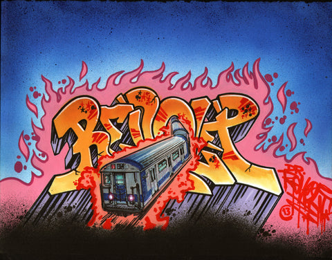 "Revolt - ""Train""  Drawing"