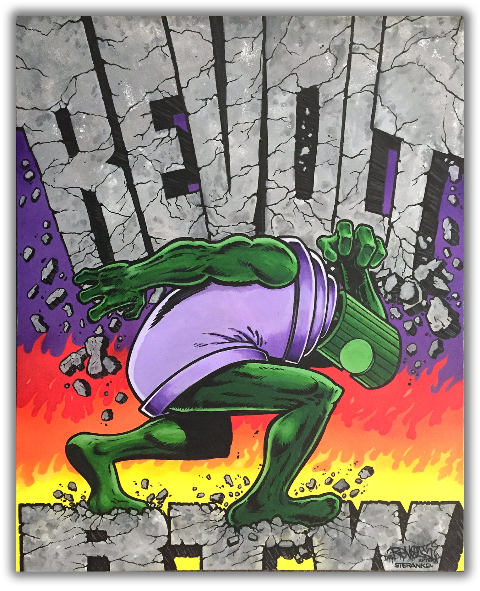 "DR REVOLT  ""King Size Special""  Painting"