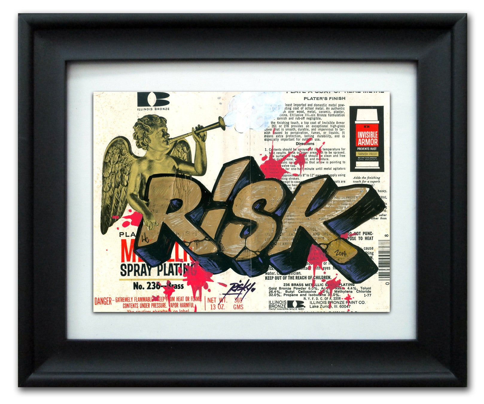 "RISK  - ""Illinois Bronze"" Vintage Label"