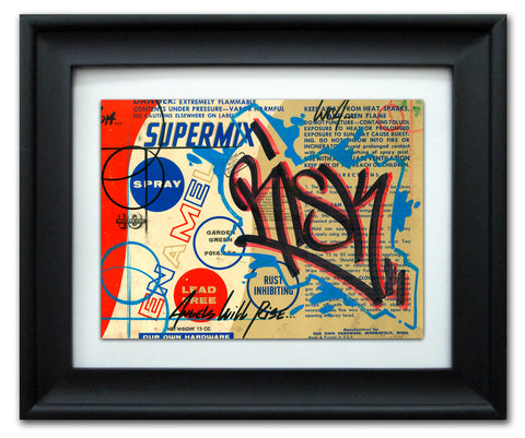 "RISK  - ""Supermix"" Vintage Label"