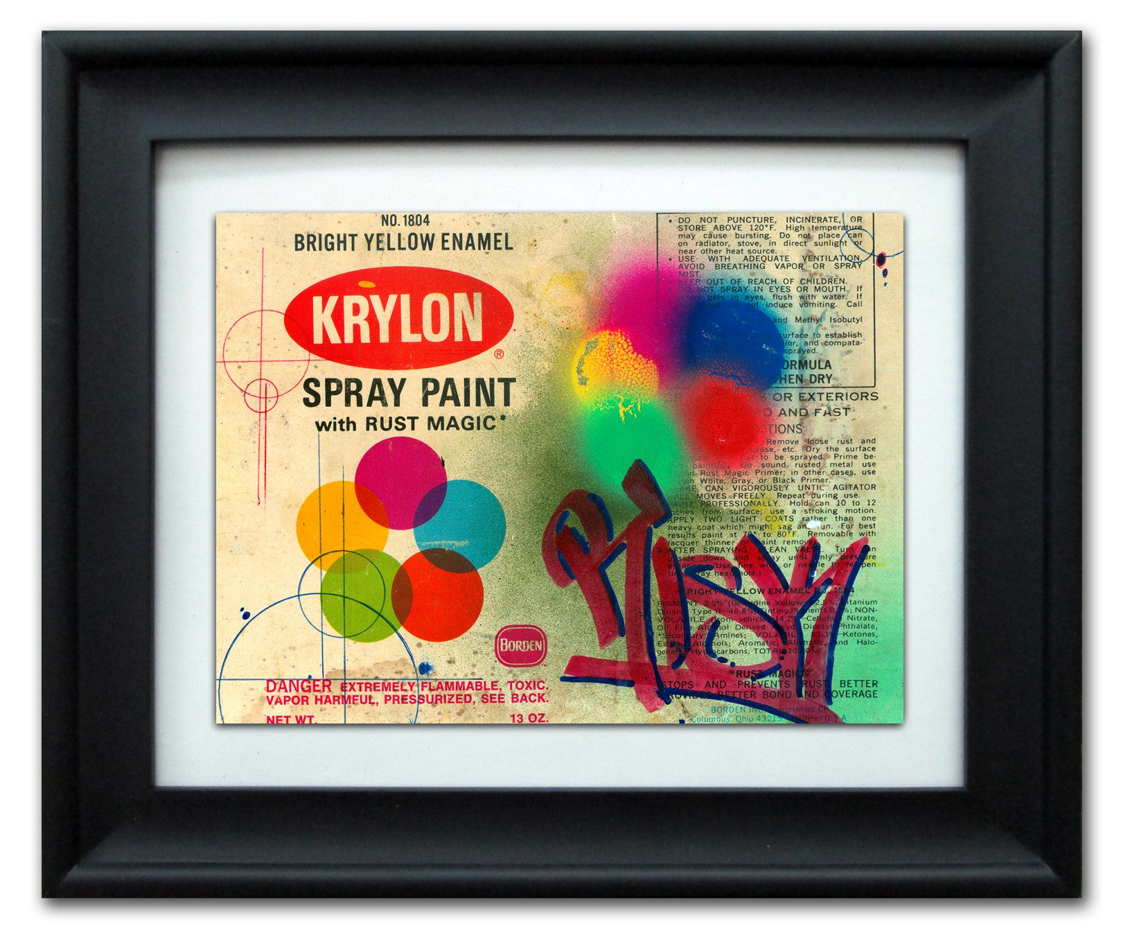 "RISK  - ""Krylon"" Vintage Label"