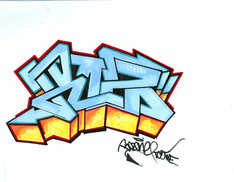 "ROZ ONE -""Roz"" BlackBook Drawing"