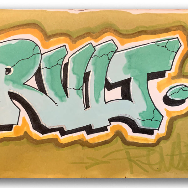 "DR REVOLT ""RVLT""  1984 Black Book Drawing"