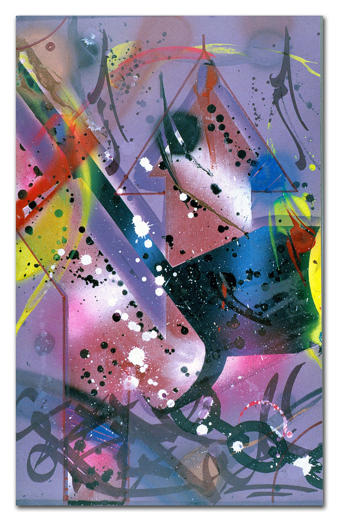 "RAMMELLZEE - ""Gothic Futurism Launch Pad Beta"" Painting 1987"