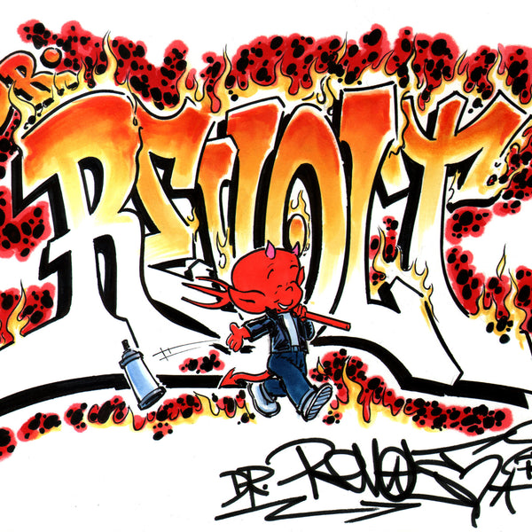 "Revolt  ""Hot Stuff""  Black Book Drawing"
