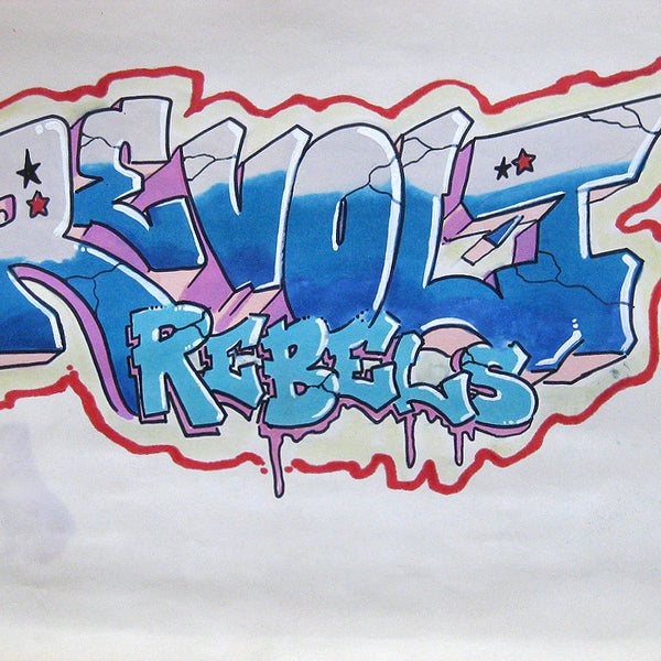 "REVOLT -  "" Rebels""  Black Book piece 1984"