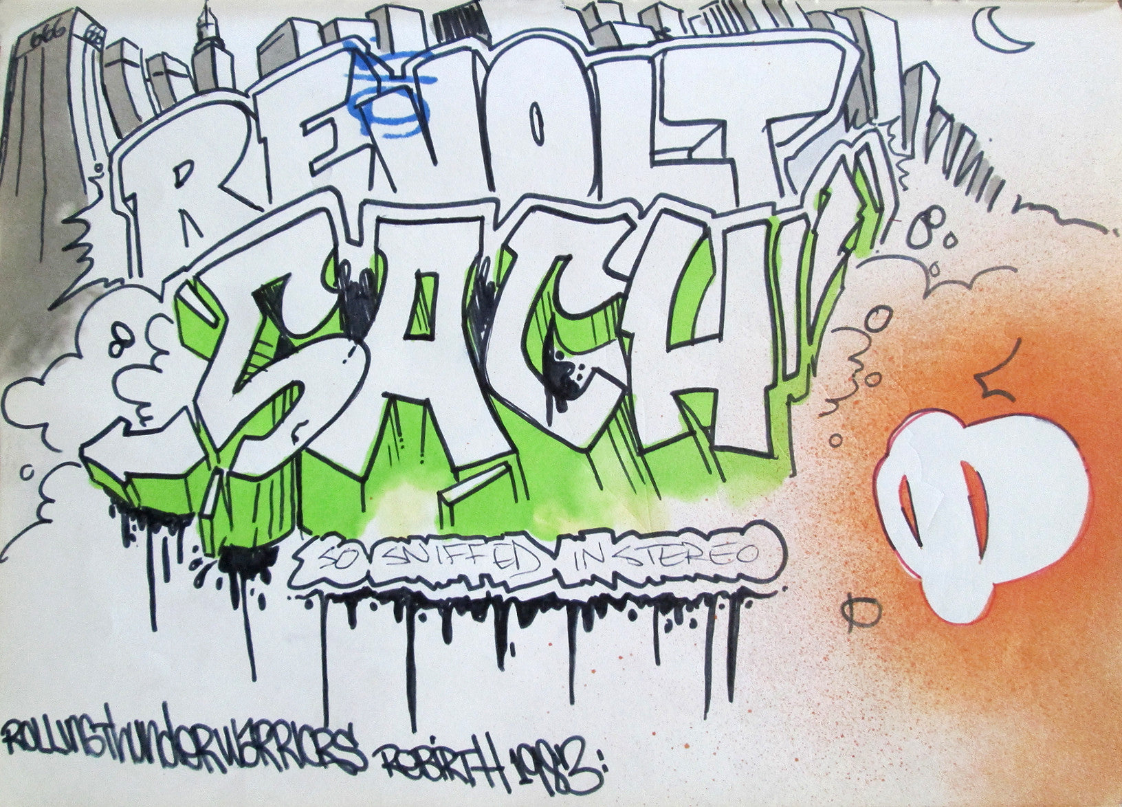 "Revolt/ SACH - ""In Stereo"" Black Book Page"