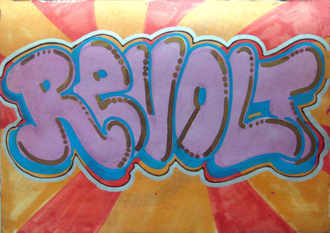 "REVOLT -  "" Untitled #1""  Black Book piece 1982"