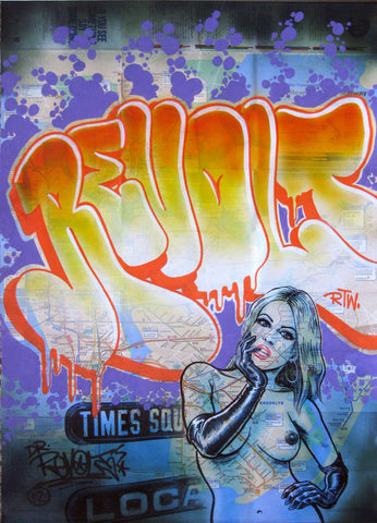 "REVOLT -  ""Miss Subways Times Square"" NYC Map"