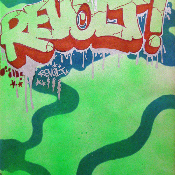 "REVOLT -  "" Untitled #6""  Black Book piece 1982"