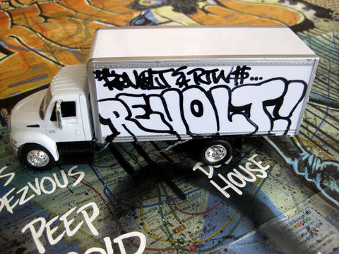 "REVOLT - 8"" DIY Box Truck- Tagged  Up"