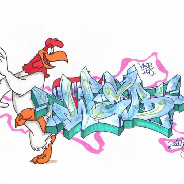 "WEB ONE - TC5 - ""Foghorn""  Blackbook Drawing"