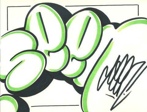 GRAFFITI ARTIST SEEN - Bubble 8- Drawing