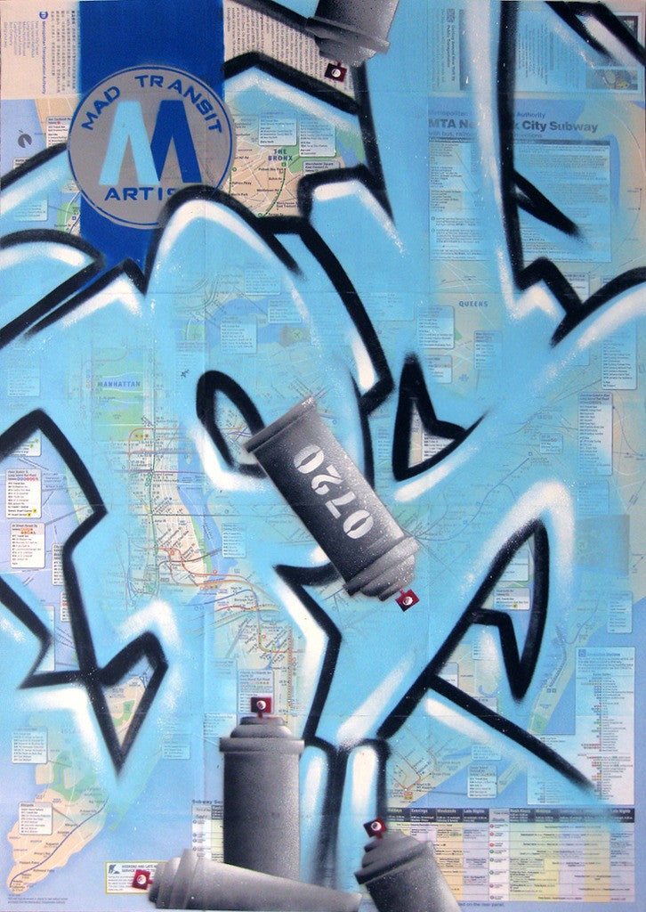 "GRAFFITI ARTIST SEEN -  ""Psycho"" NYC Map"