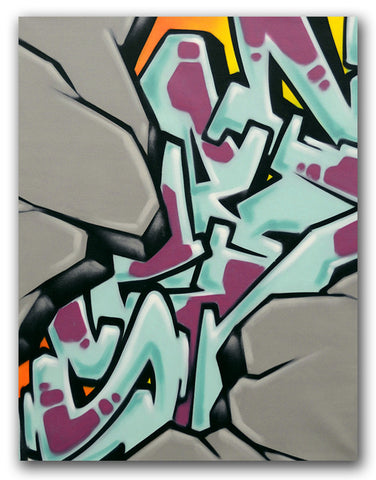 "GRAFFITI ARTIST SEEN - ""Untitled"" Painting"