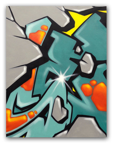 GRAFFITI ARTIST SEEN - Untitled 2- Rock Painting