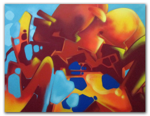 "GRAFFITI ARTIST SEEN -  ""SEEN Abstract""  Painting on Canvas"