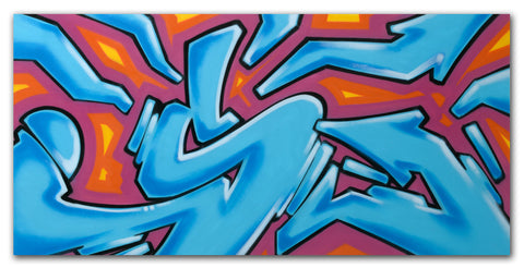 "GRAFFITI ARTIST SEEN  -  ""Untitled""  Aerosol on  Canvas"