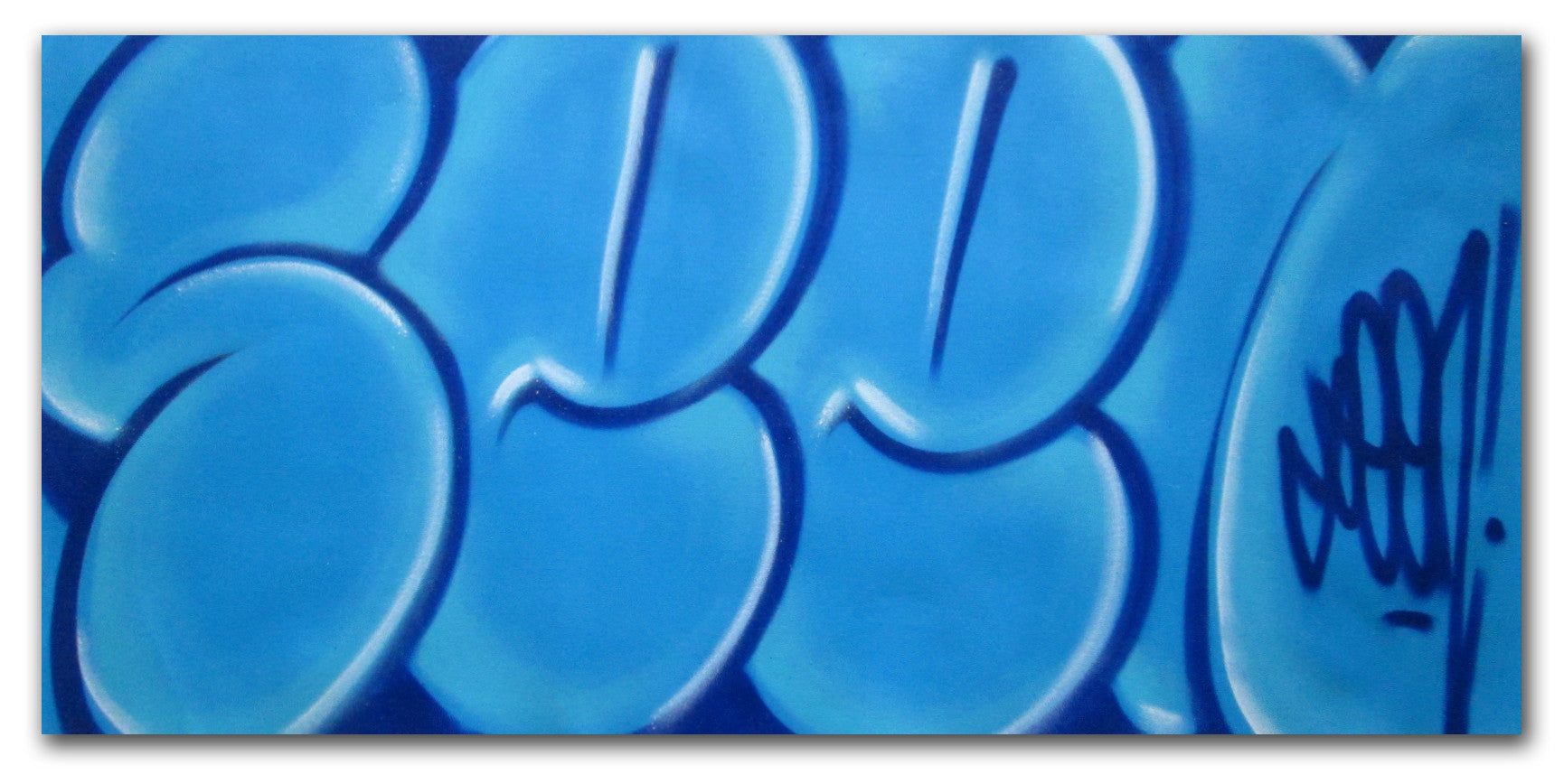 "GRAFFITI ARTIST SEEN - ""Classic Bubble 1""  Painting"
