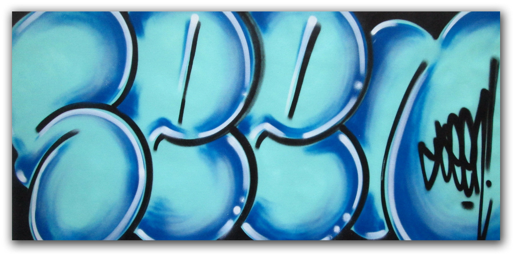 "GRAFFITI ARTIST SEEN - ""Classic Bubble 6""  Painting"