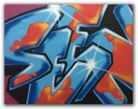 "GRAFFITI ARTIST SEEN  -  ""SEEN"" -   Aerosol on  Canvas"