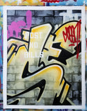 "GRAFFITI ARTIST SEEN  -  ""Wall 11""  Aerosol on  Canvas"