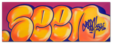 "GRAFFITI ARTIST SEEN -  ""Classic Bubble 5""  Aerosol on Canvas"