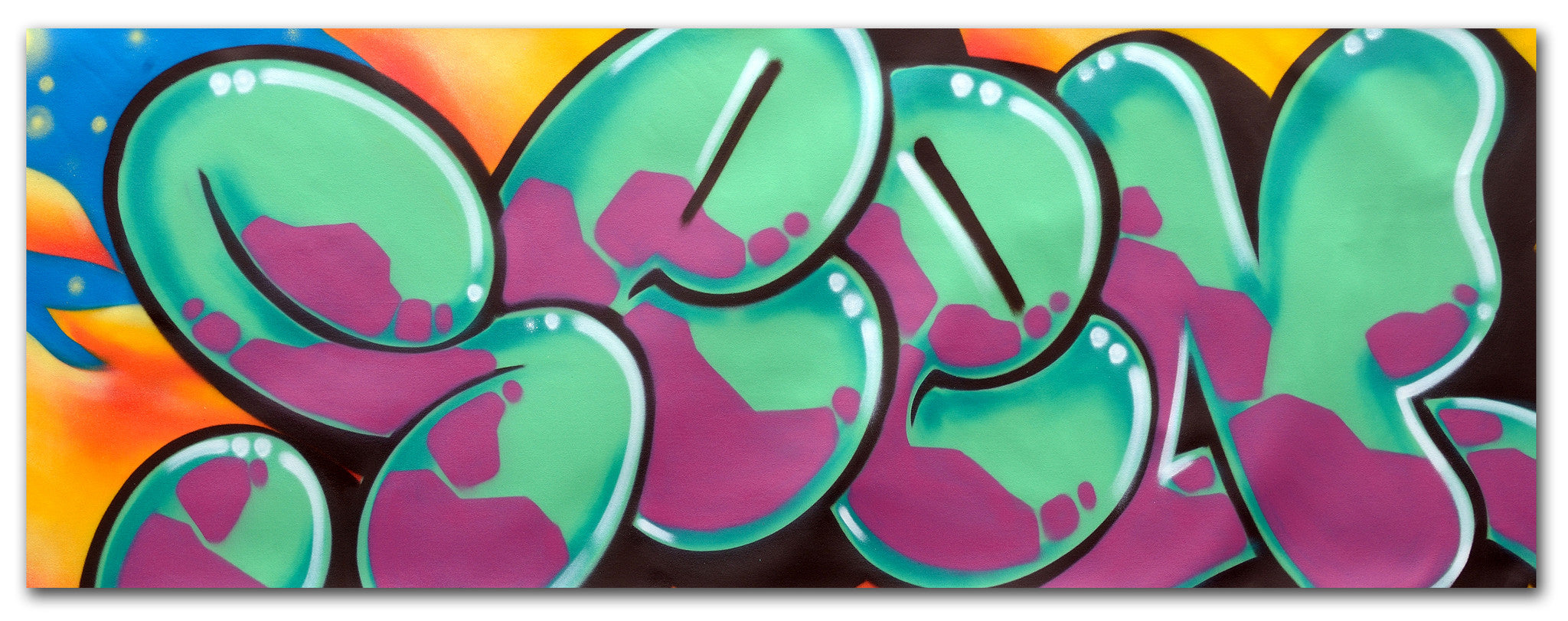 "GRAFFITI ARTIST SEEN -  ""Classic Bubble 11""  Aerosol on Canvas"