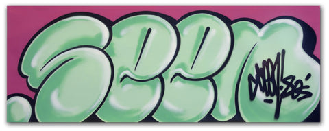 "GRAFFITI ARTIST SEEN -  ""Classic Bubble 3""  Aerosol on Canvas"