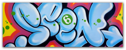 "GRAFFITI ARTIST SEEN -  ""Bubble ""  Aerosol on Canvas"